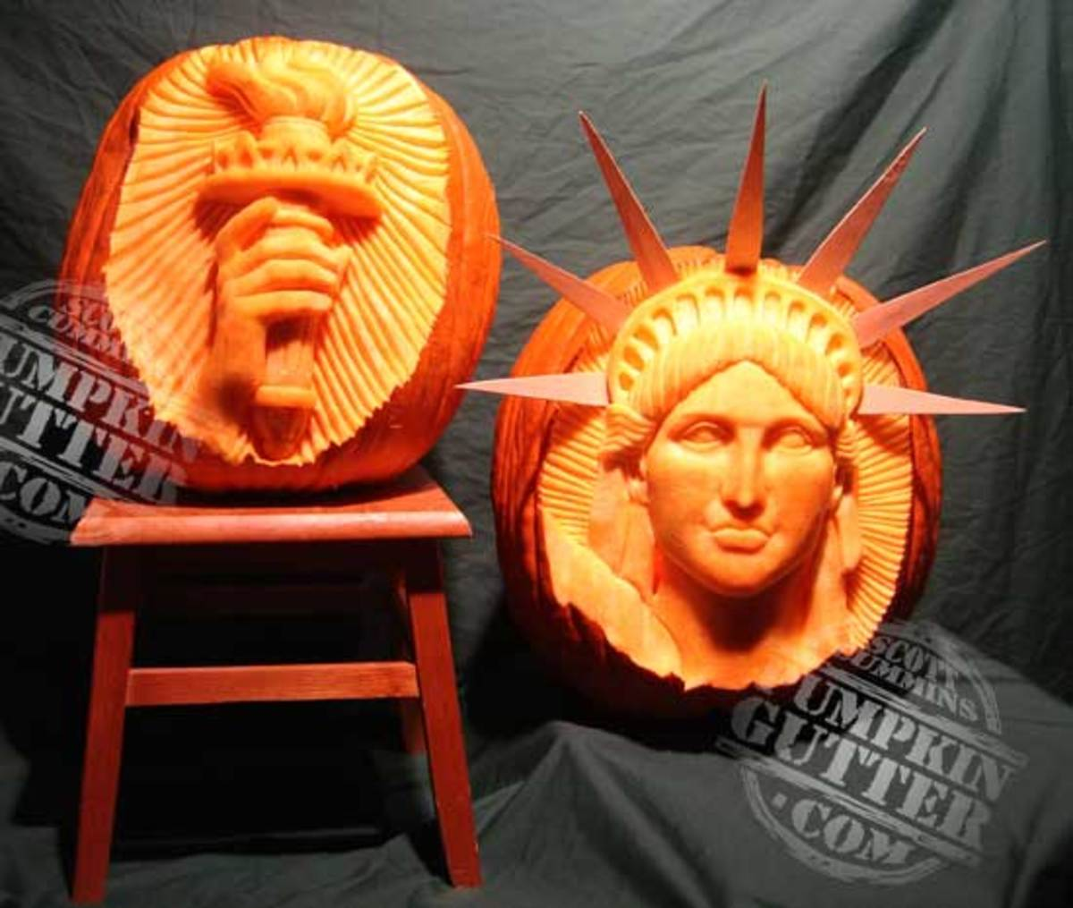 Statue of Liberty pumpkin