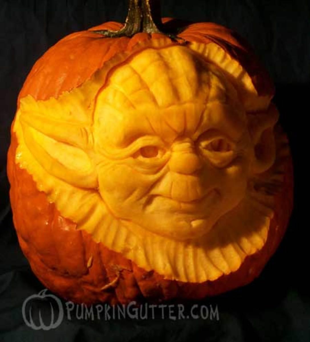 Yoda pumpkin, Star Wars