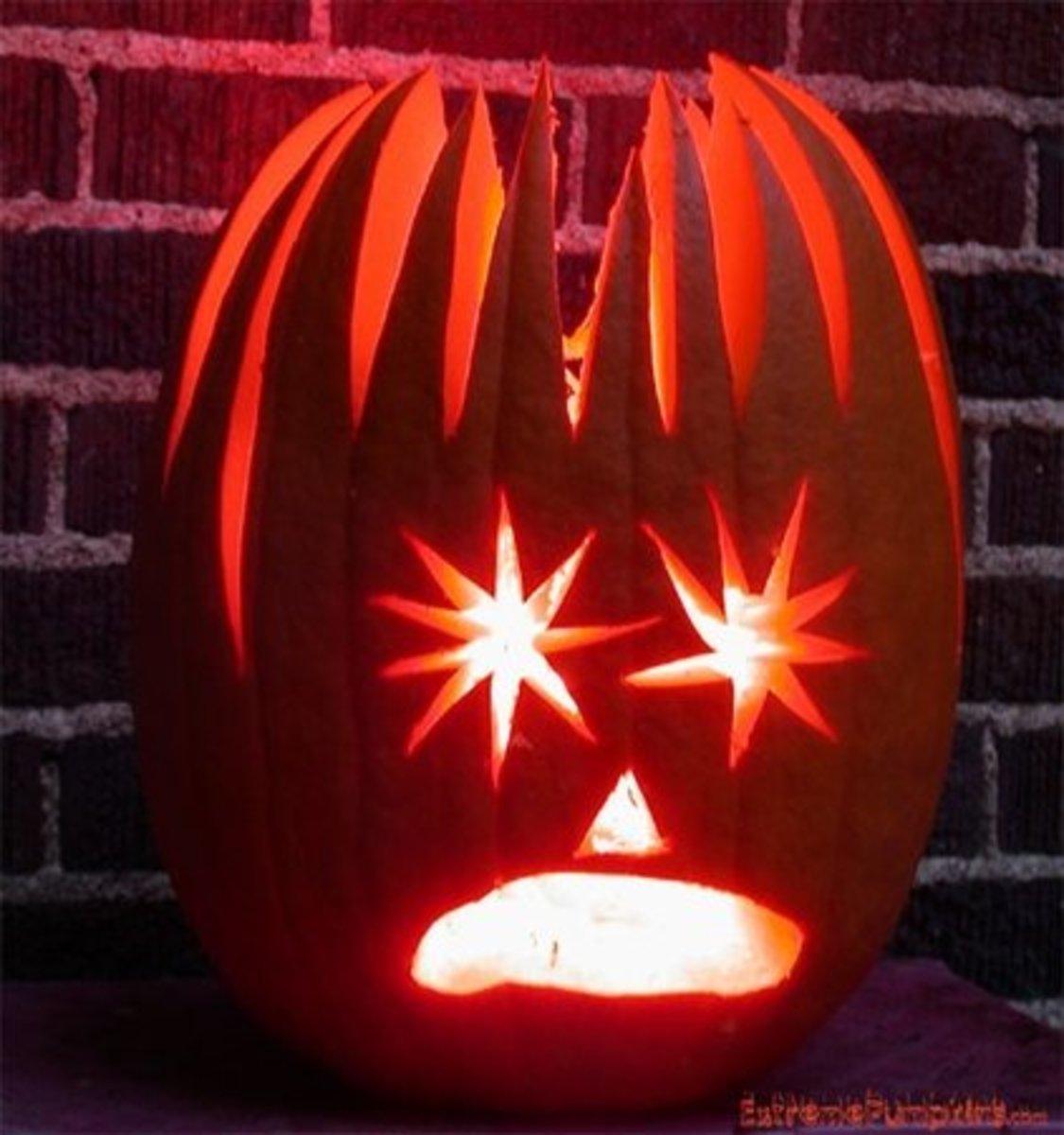 Electrocuted pumpkin