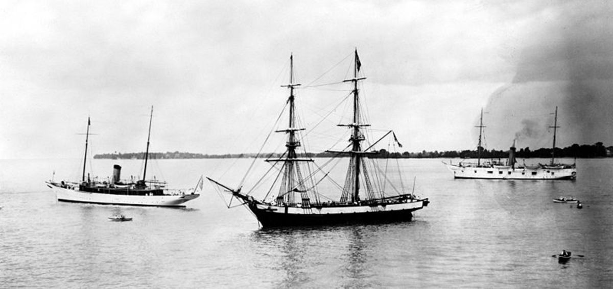 Tall sailing ships: The Niagra brig in a 1913 photo I Credit: public domain