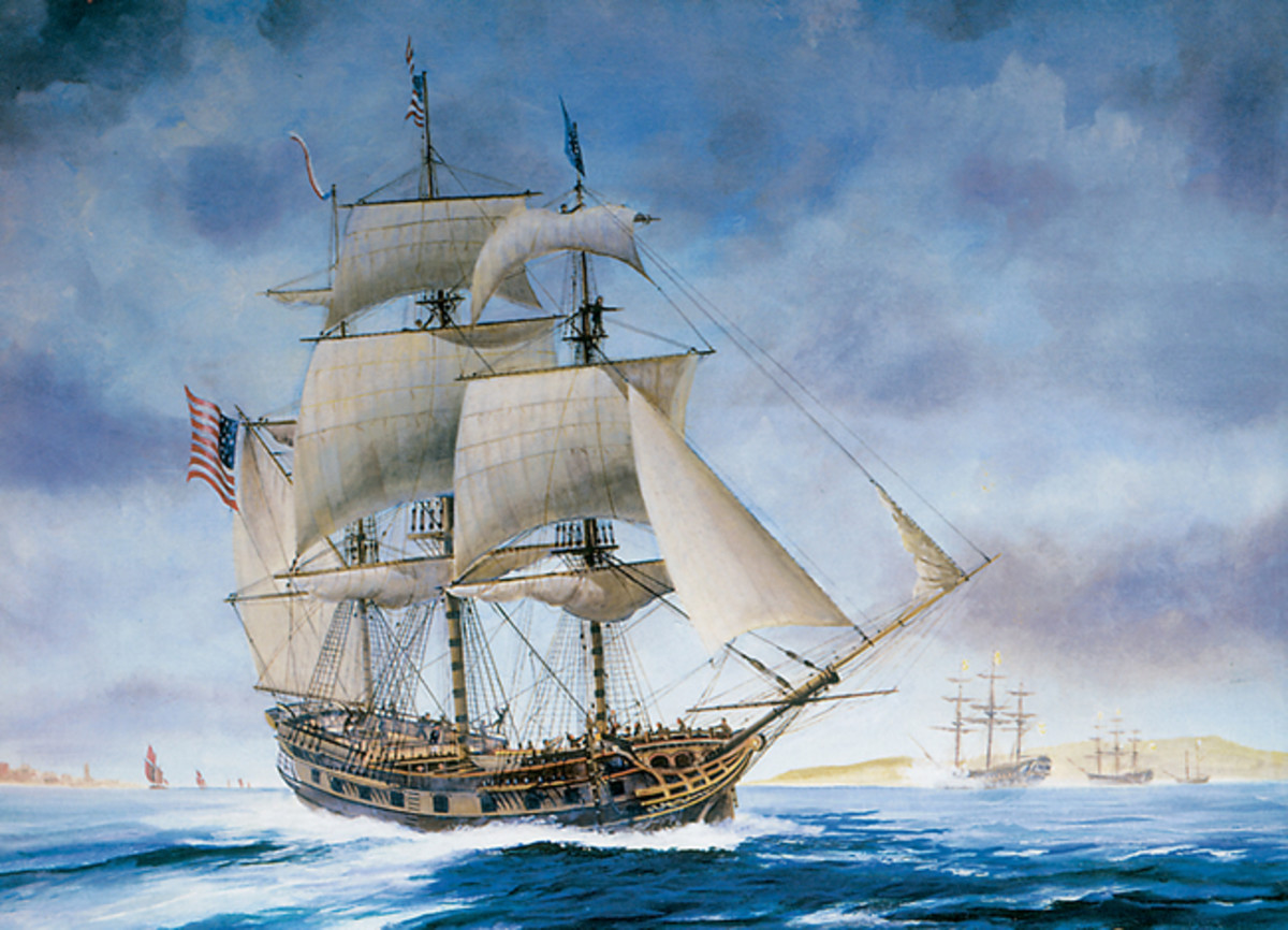 USS Ranger sloop-of-war from Sailing Ships Paintings and Drawings CD-ROM and Book by Carol Belanger Grafton, Dover Publications