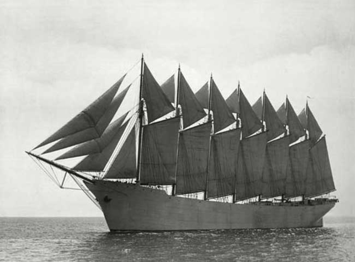 Tall sailing ships: The Thomas W. Lawson was the only seven-masted schooner in existence I Credit: Public domain