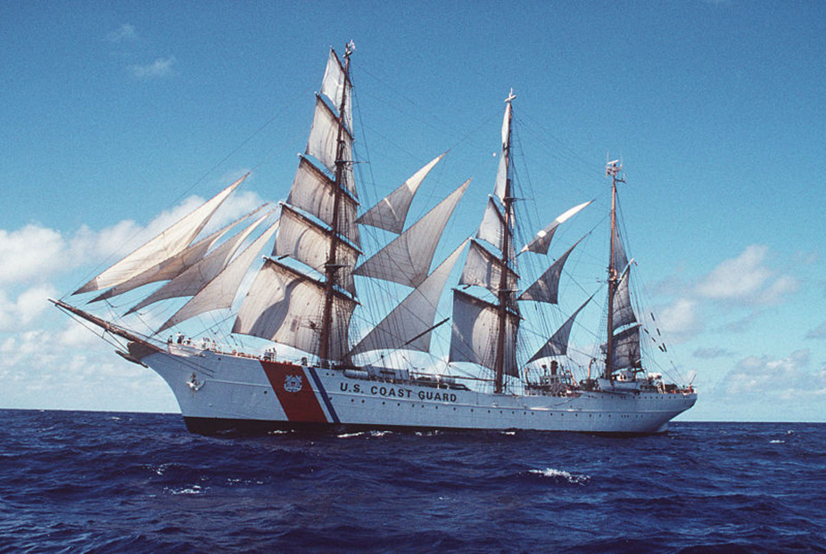 The USCG Eagle barque