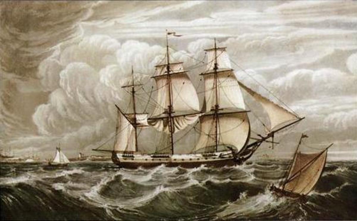 The True Briton Blackwall frigate from Sailing Ships Paintings and Drawings CD-ROM and Book by Carol Belanger Grafton, Dover Publications
