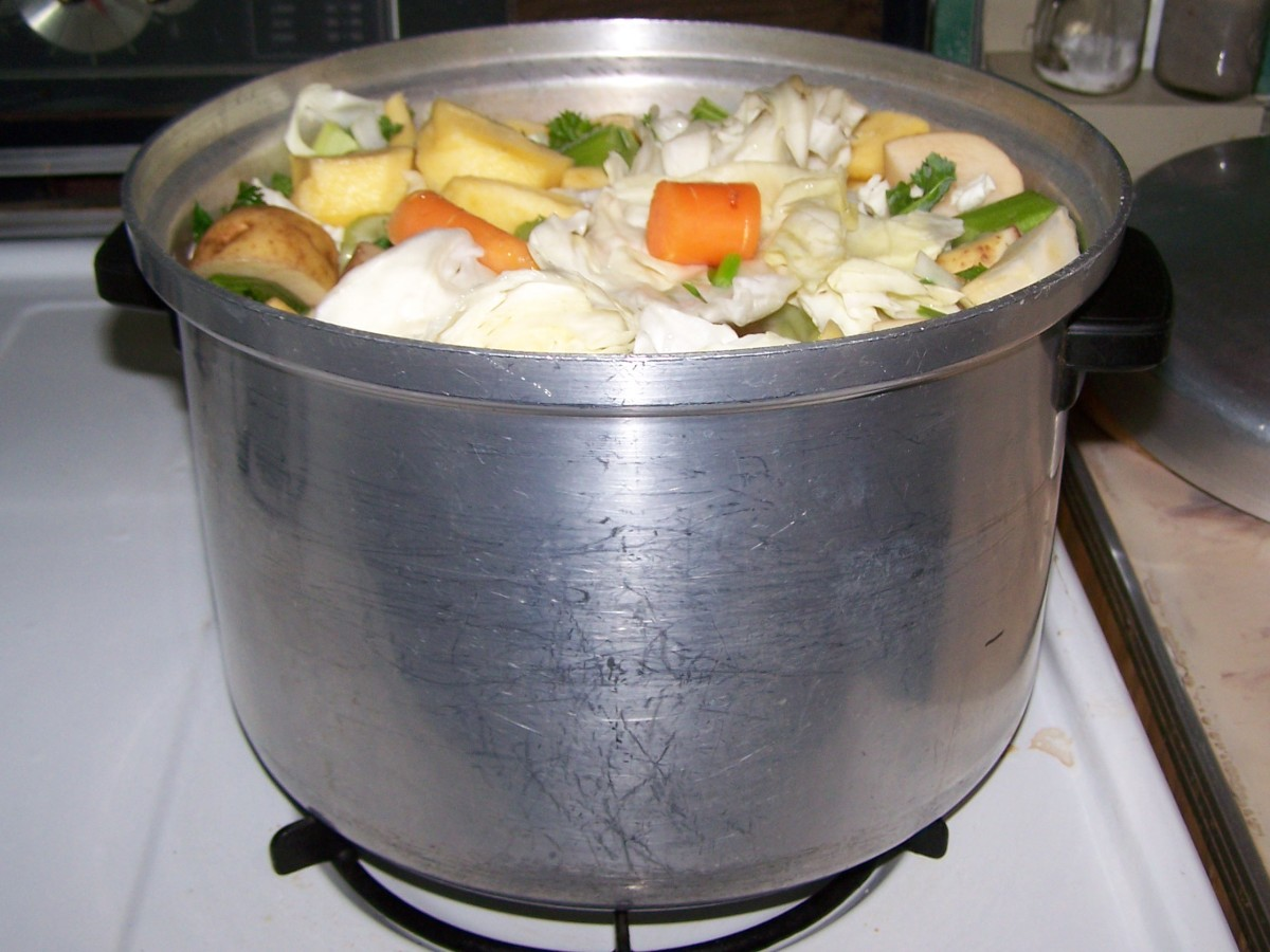 All has fit nicely into the boiling pot