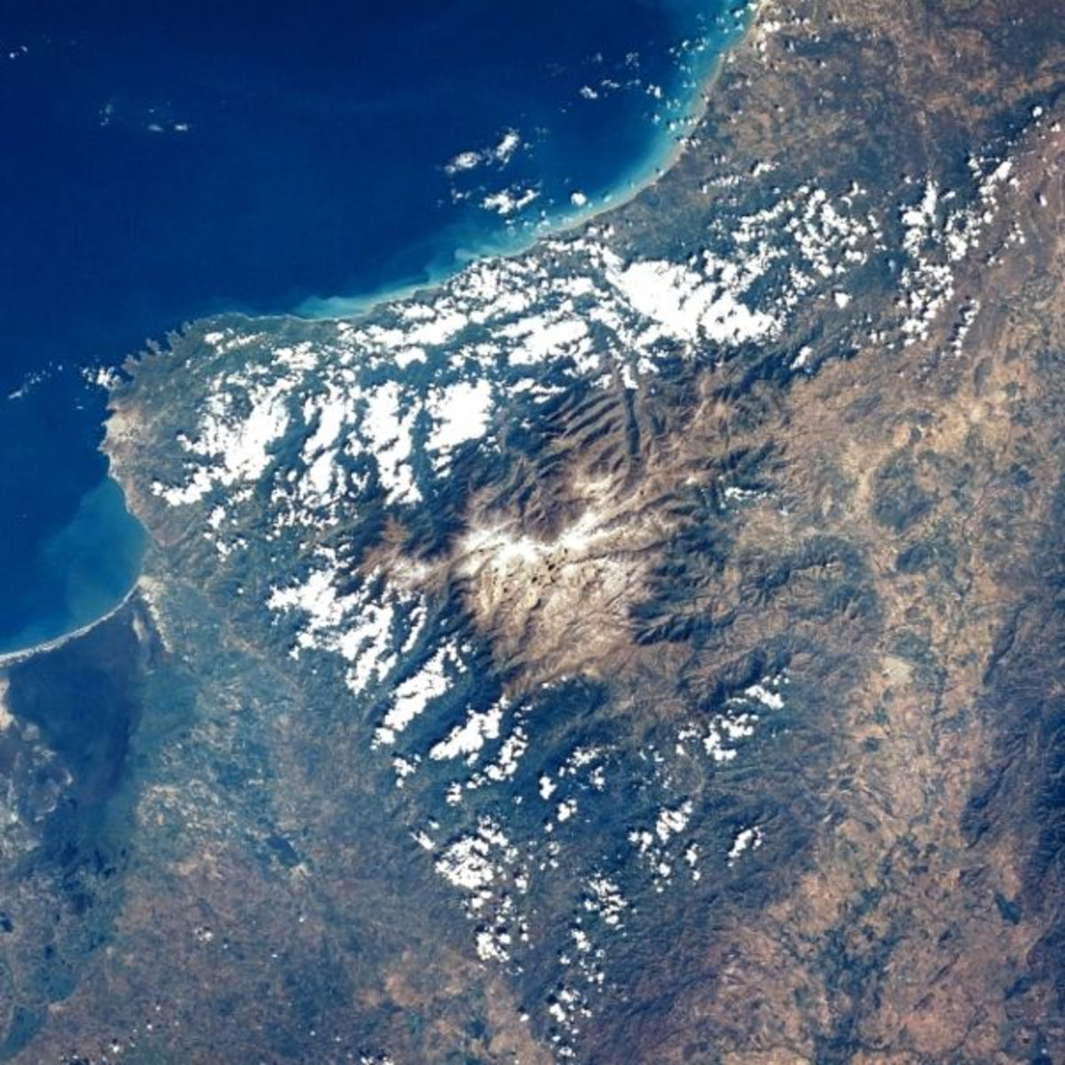 Sierra Nevada de Santa Marta filmed from space