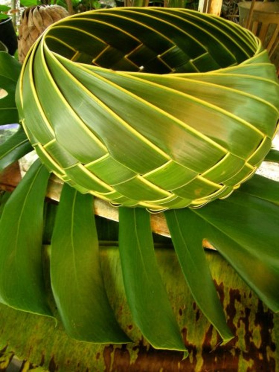 Not necessarily.  This palm frond bowl from Hawaii is both practical and useful.  Made by a native Hawaiian, from local materials, using traditional techniques, it is folk art.