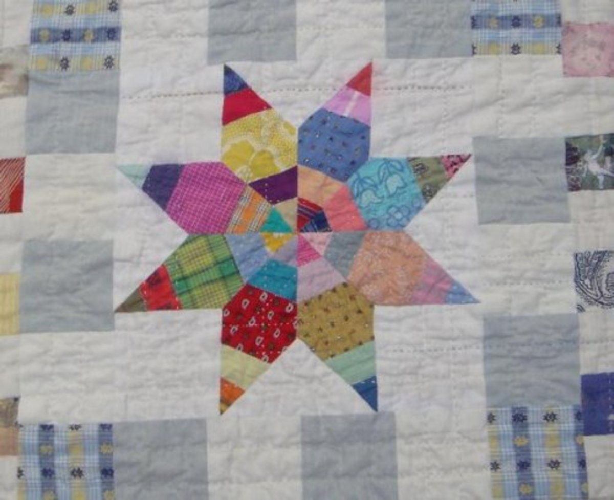 Probably!  This quilt is very like some I grew up with.  They were created by local artists, my grandmother and great grandmother, using local materials (scraps) and a technique consistent with that of local artists - quilting.