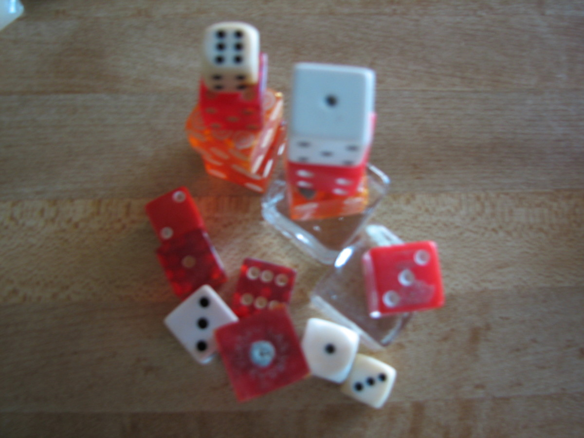 I love dice and keep every one that I run across that has lost it's way in life.