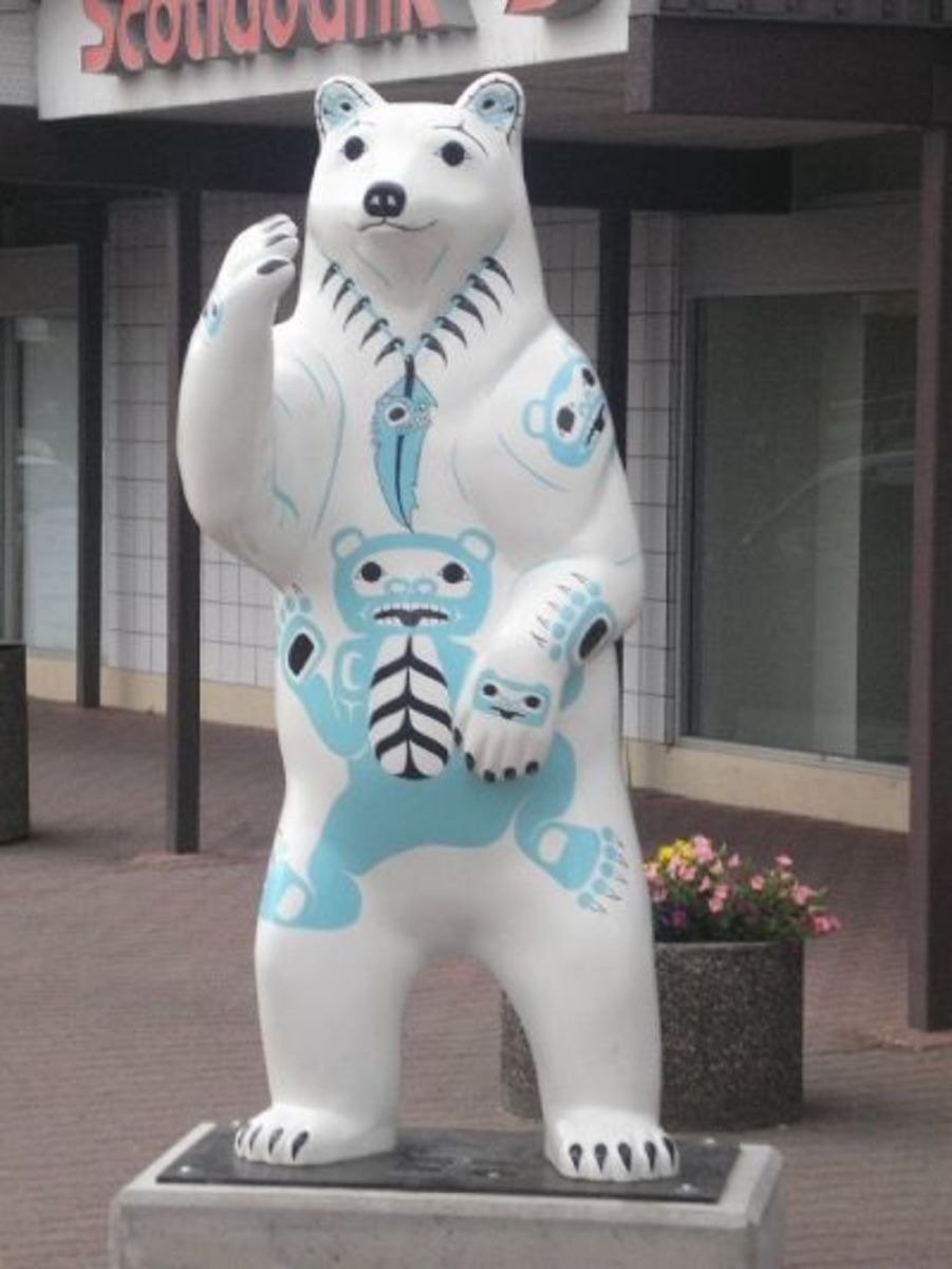 Spirit Bear Mother in City of Terrace
