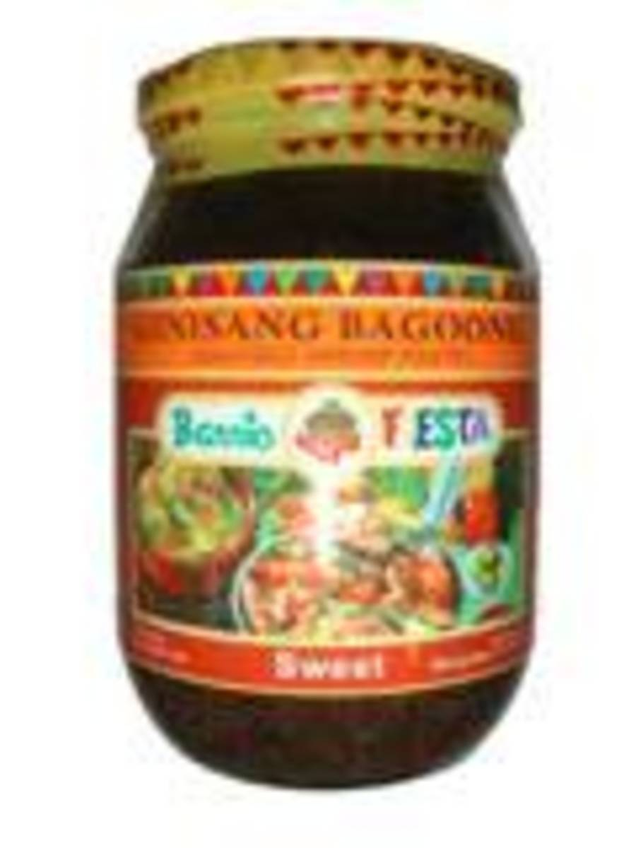 Bagoong is a paste of salted and fermented shrimp fingerlings.