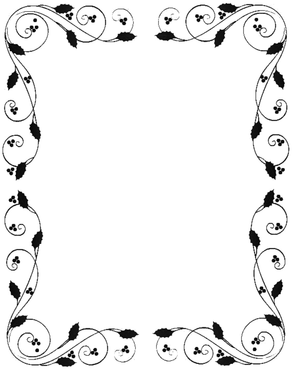 Free Black and White Christmas Borders