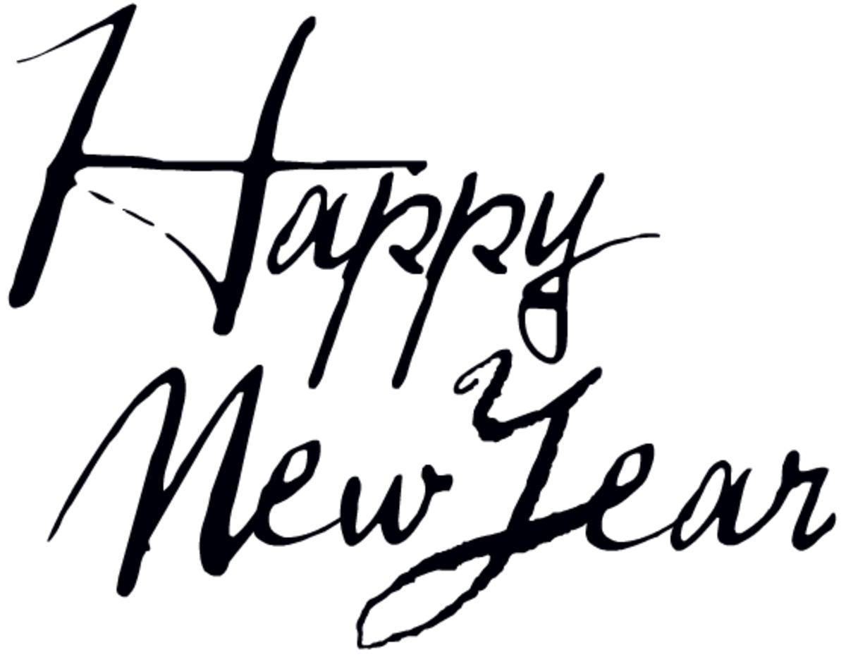 Happy New Year funky script font