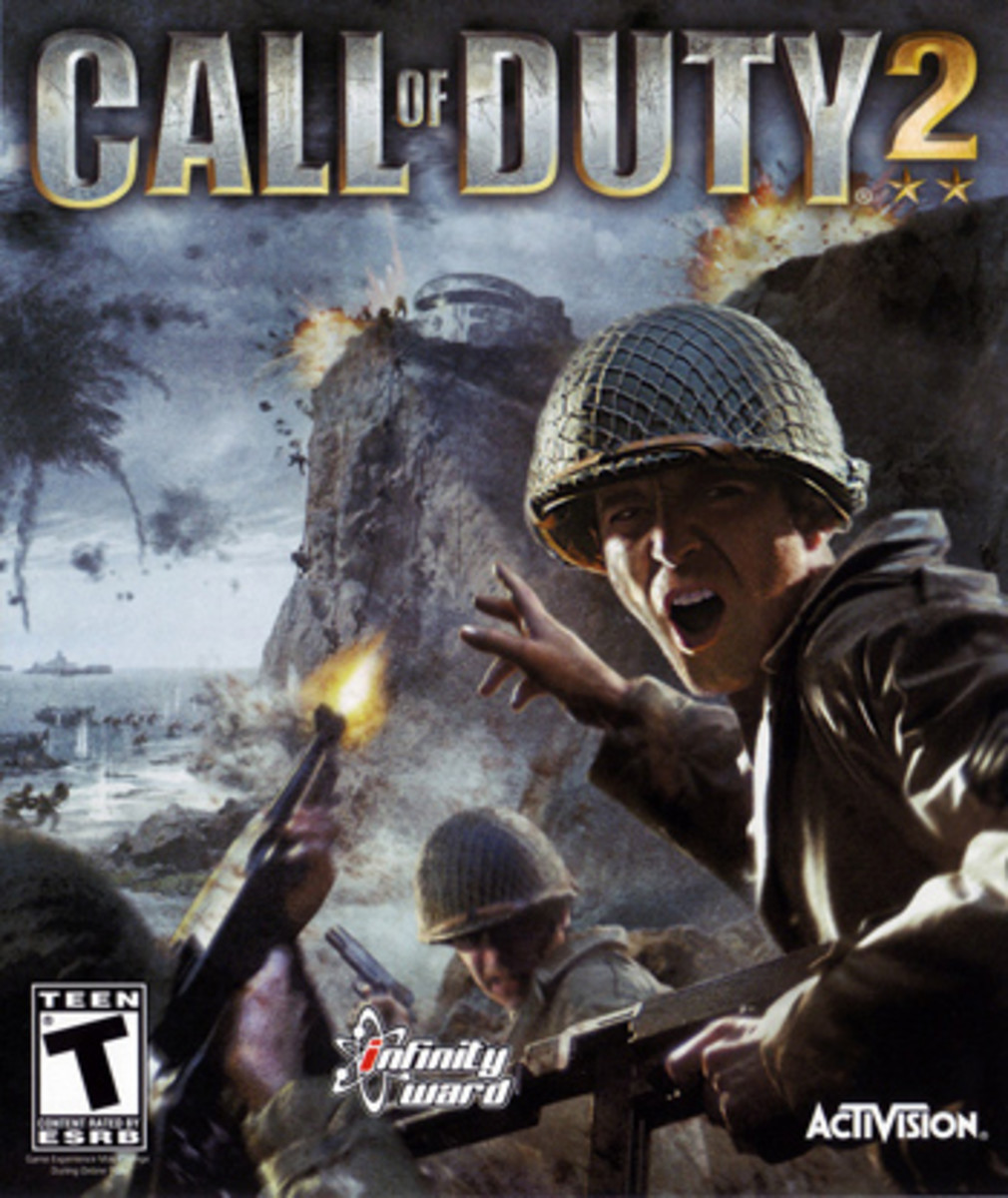 (Image of Call of Duty 2: Big Red One [October 25th, 2005] poster) - This is the poster that 'boots on the ground' Call of Duty players most think of when bringing the franchise into conversation - welcome, all Call of Duty player traditionalists
