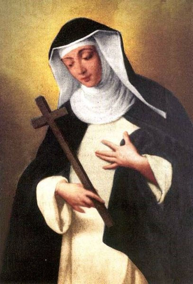 "A painting of Blessed Agnes of Langeac - ""If you can't feed a hundred people, then feed just one."" -- Mother Teresa"