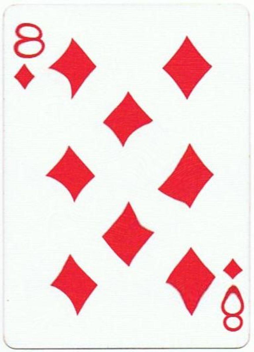 8 of diamonds free clipart