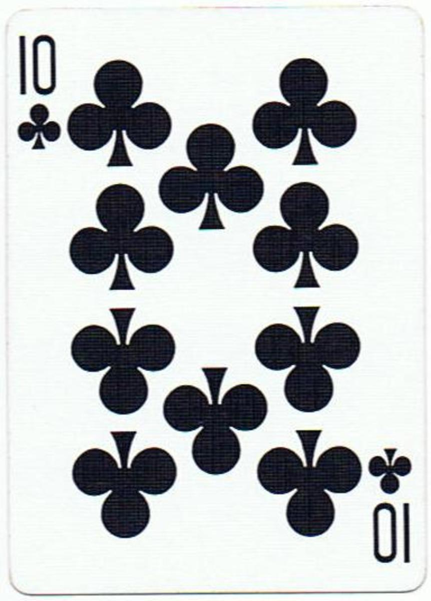 10 of clubs clip art
