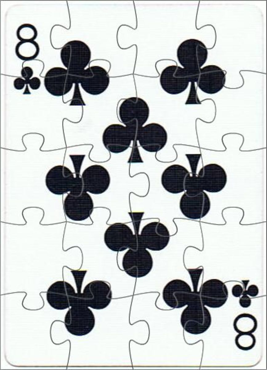 8 of clubs with puzzle effect
