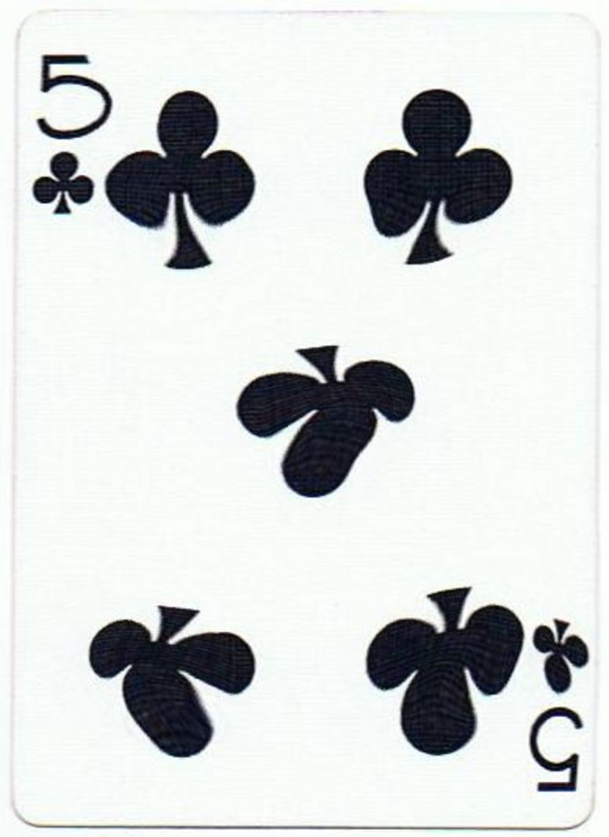 5 of clubs clip art
