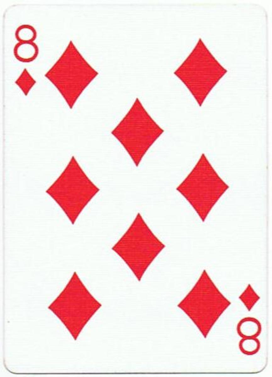 8 of diamonds clip art