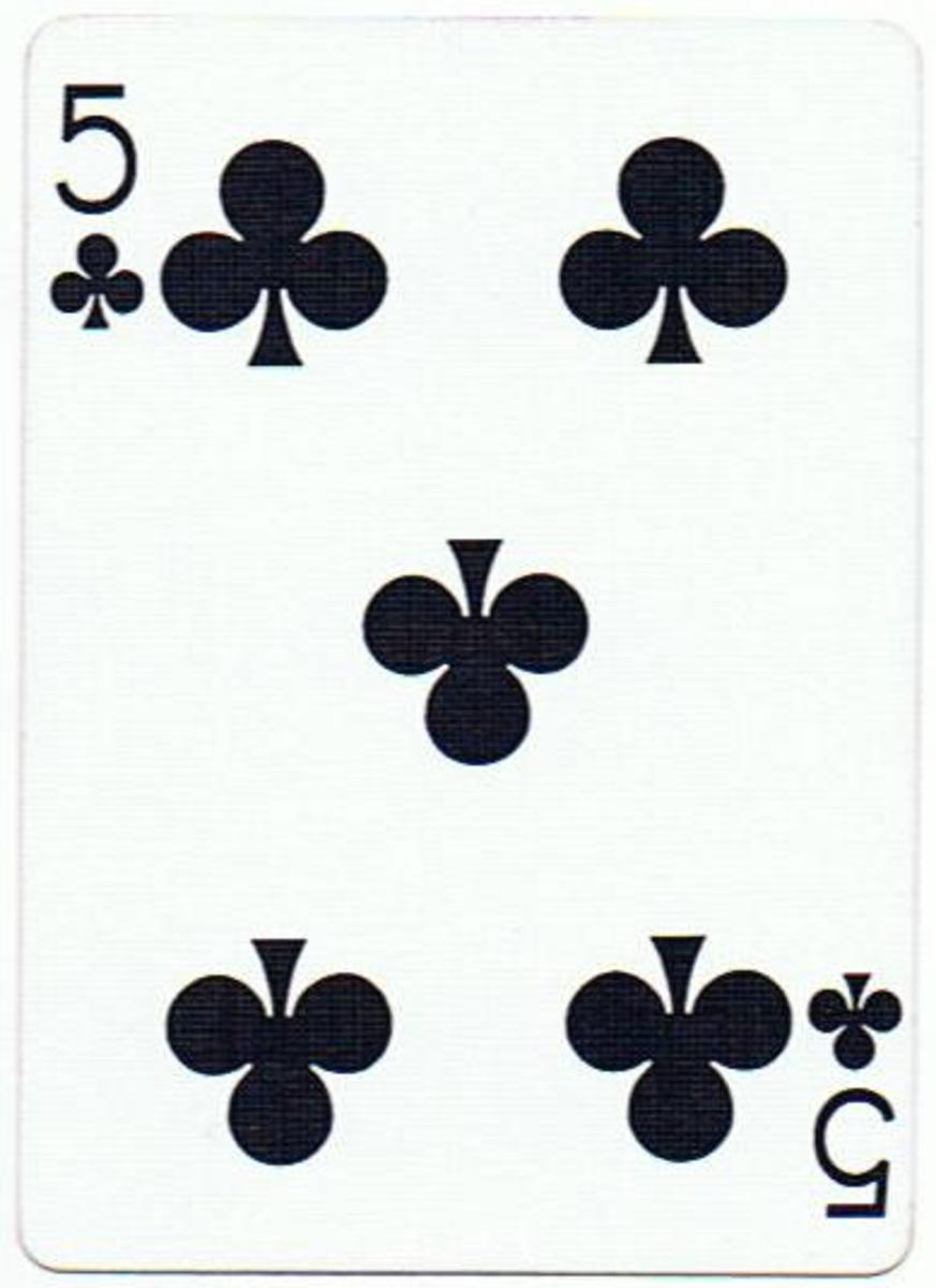 5 of clubs free clipart