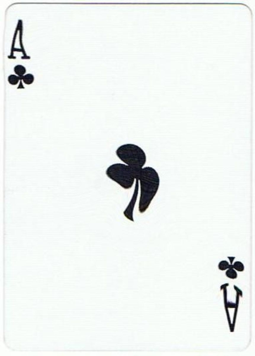 ace of clubs free playing card clip art