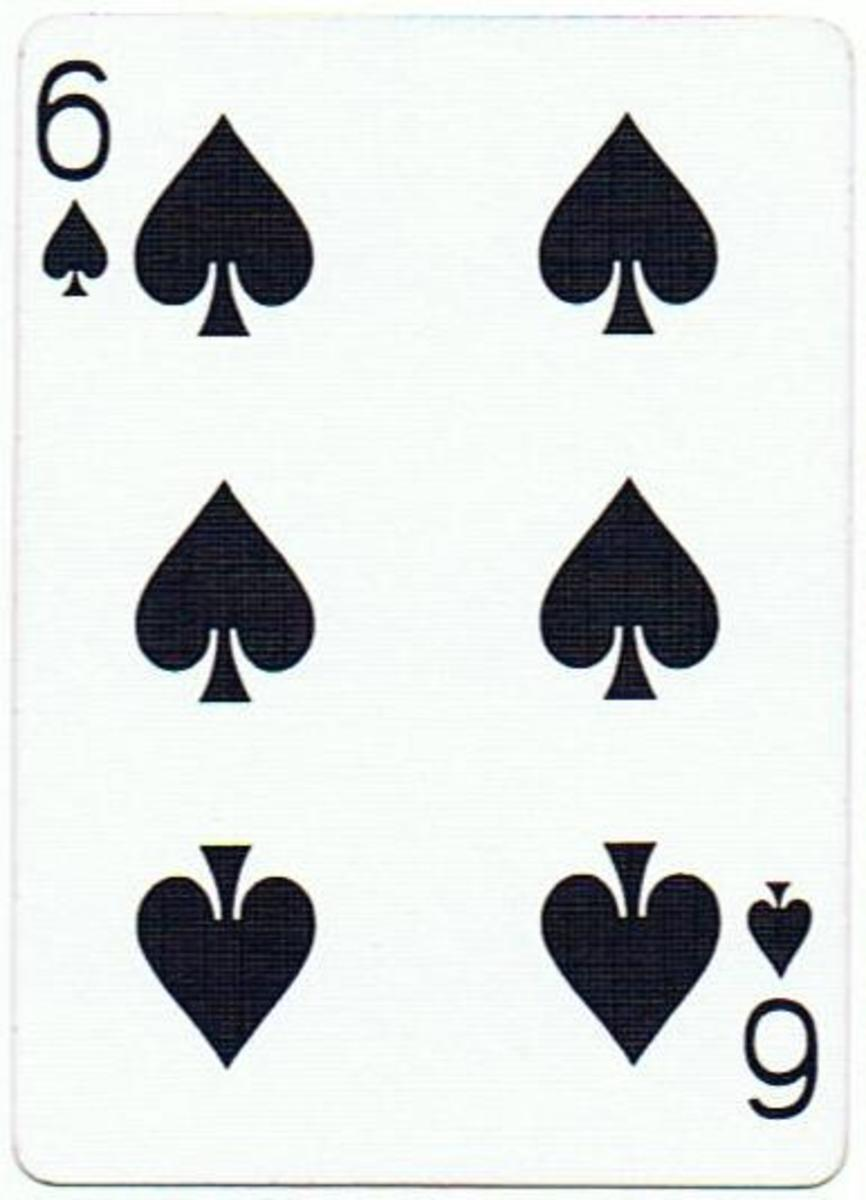 6 of spades free playing cards clip art