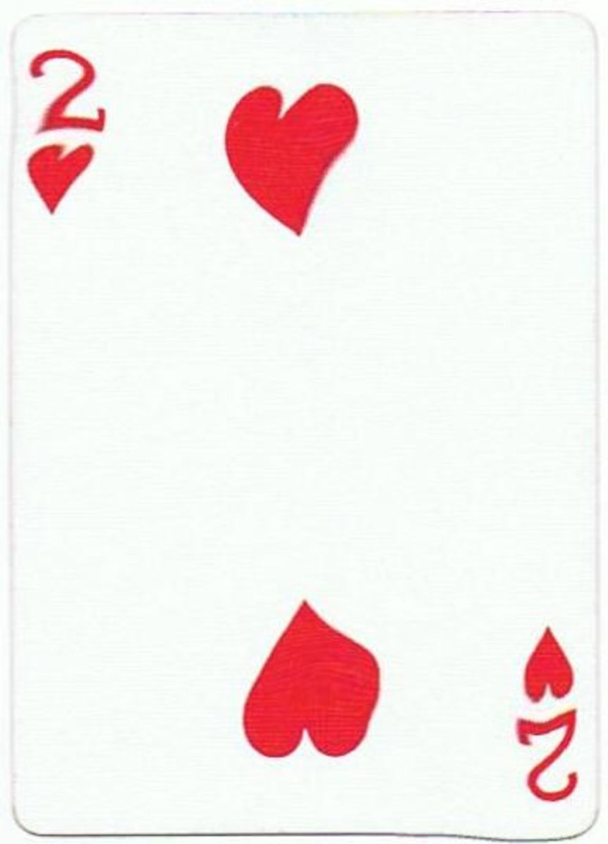 2 of hearts free playing cards clip art