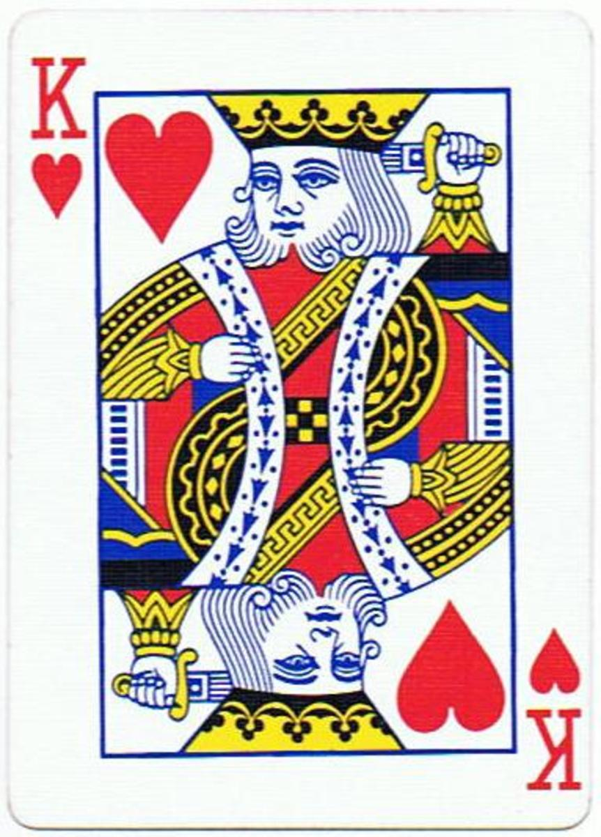king of hearts playing cards clip art