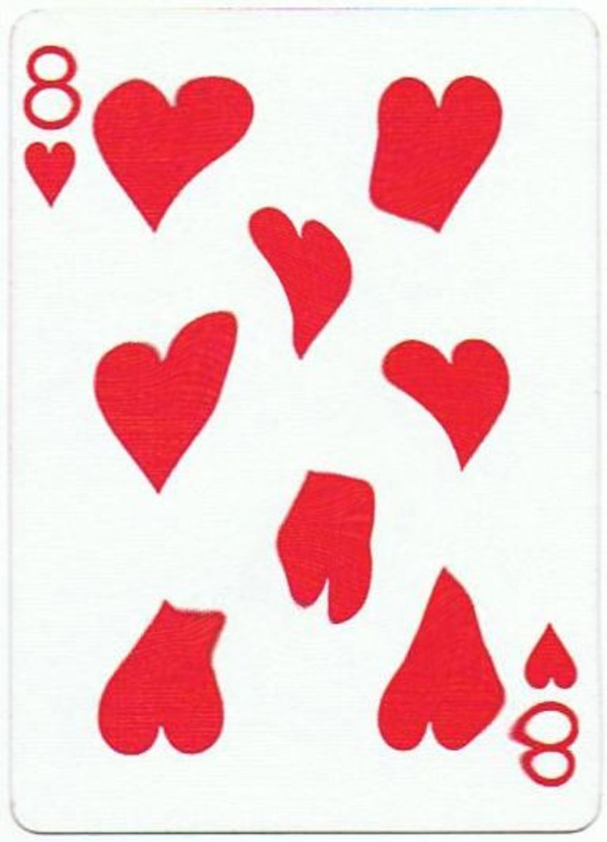 8 of hearts with stretched effect