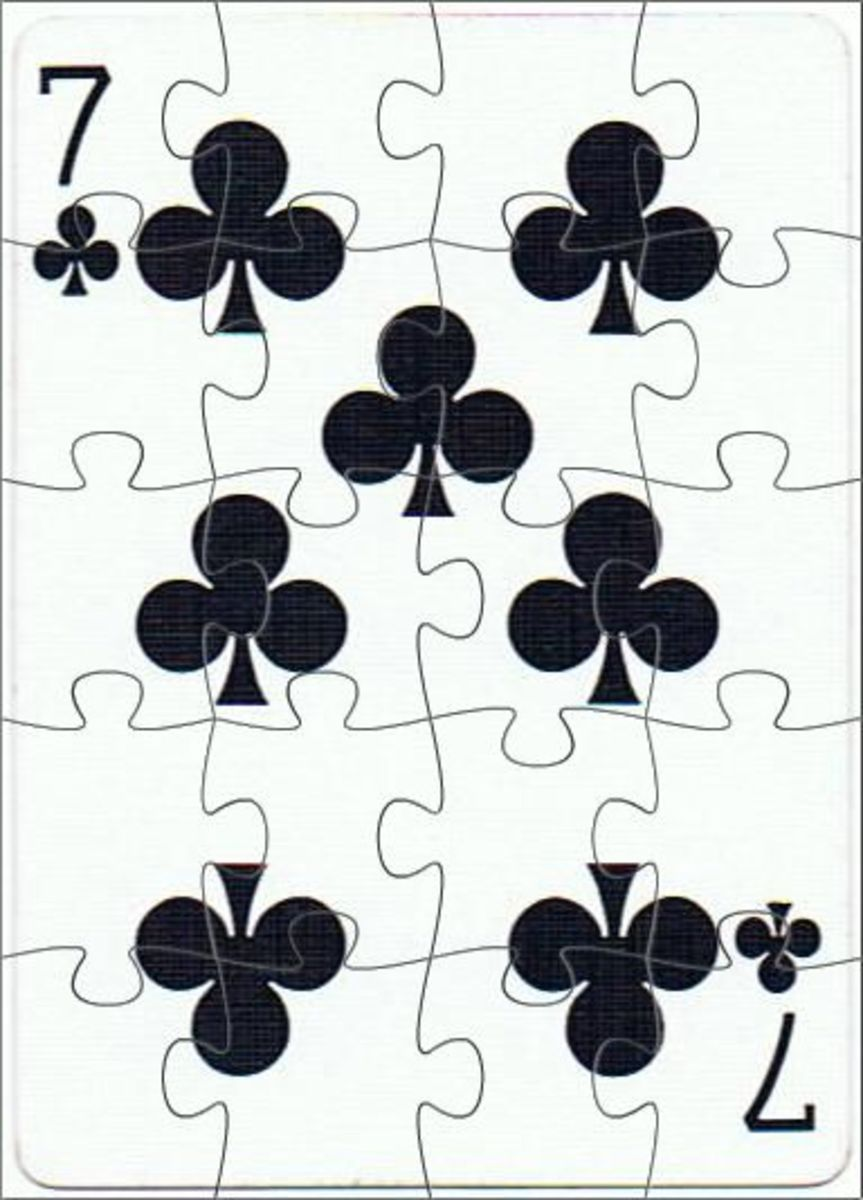 7 of clubs clip art