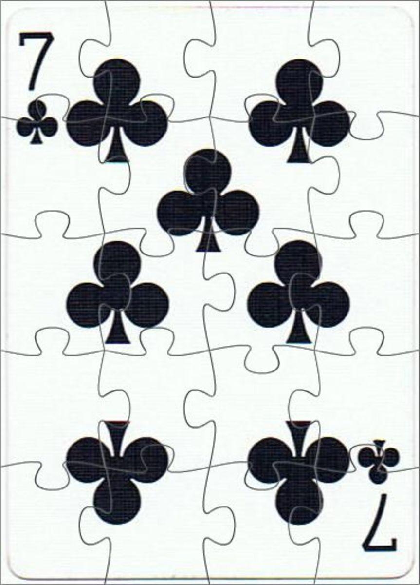 7 of clubs clip art