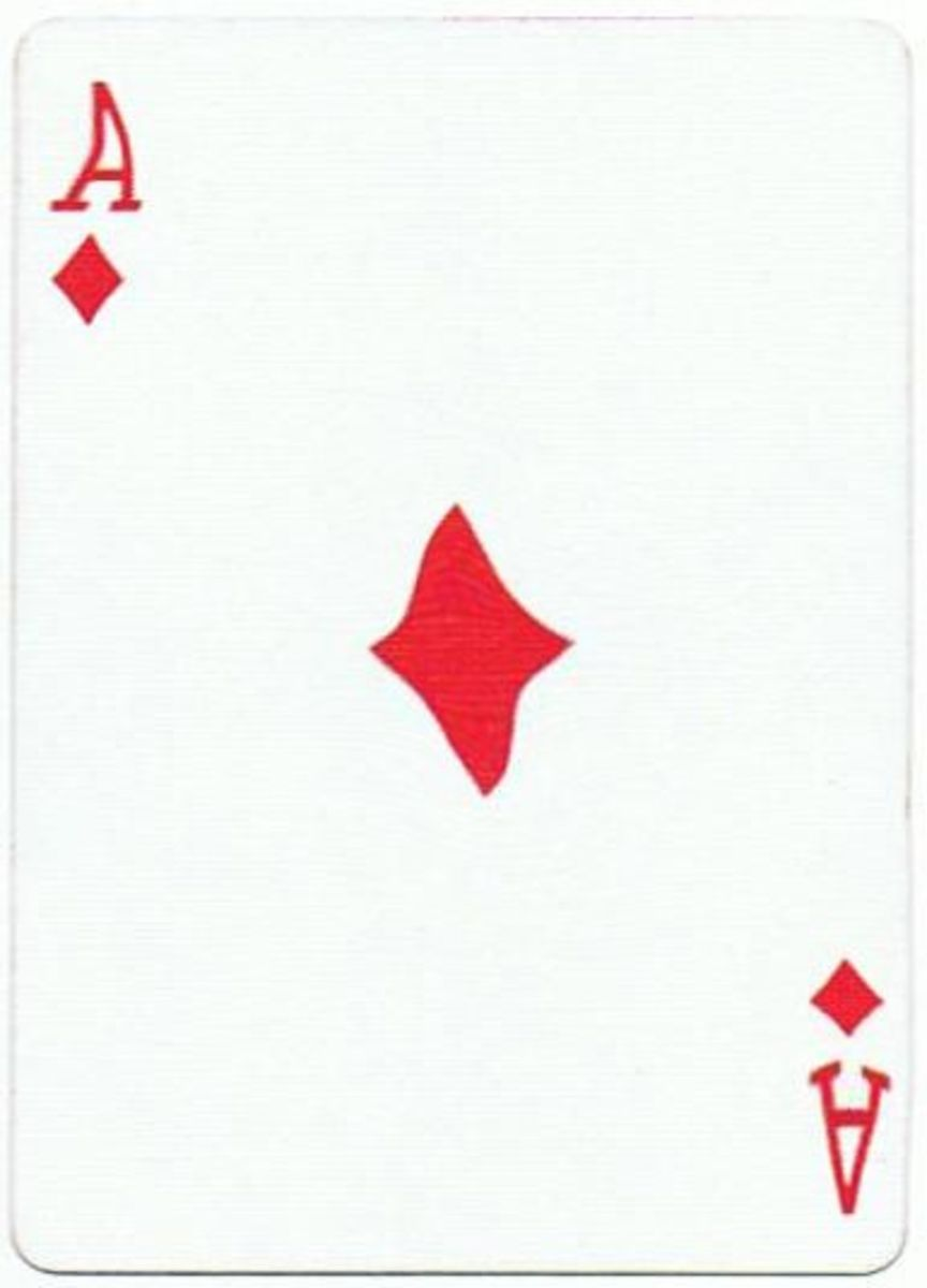 ace of diamonds playing cards clip art with stretched effect