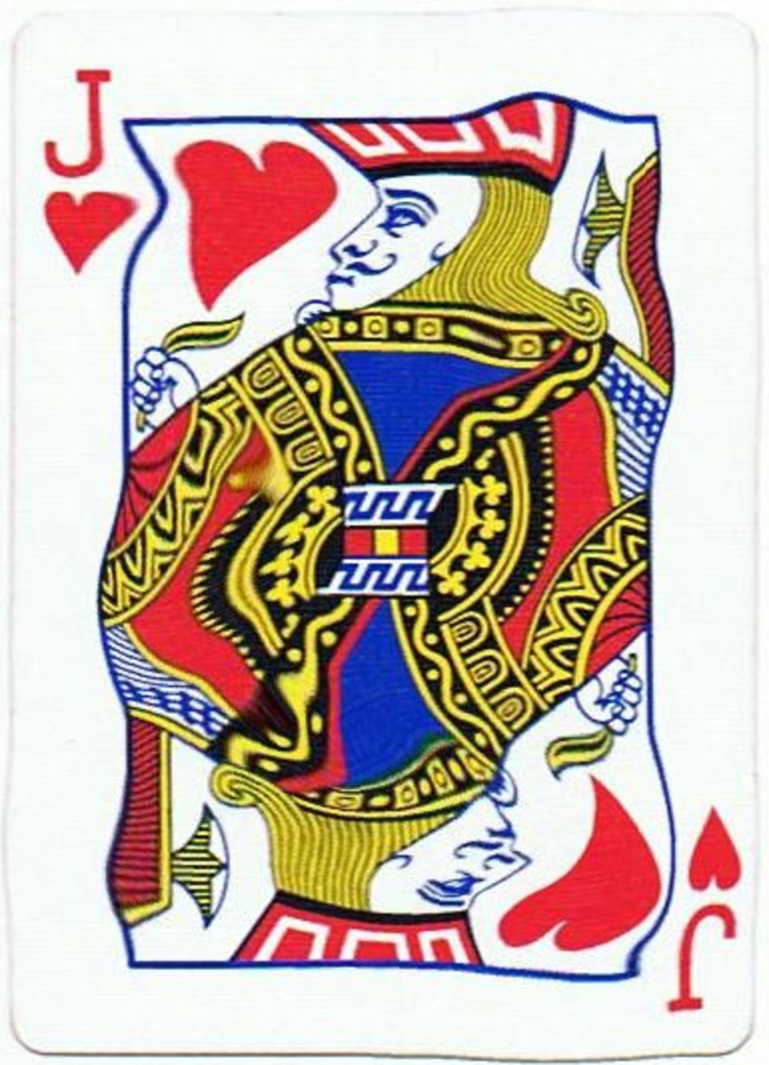 jack of hearts playing cards clip art with stretched effect
