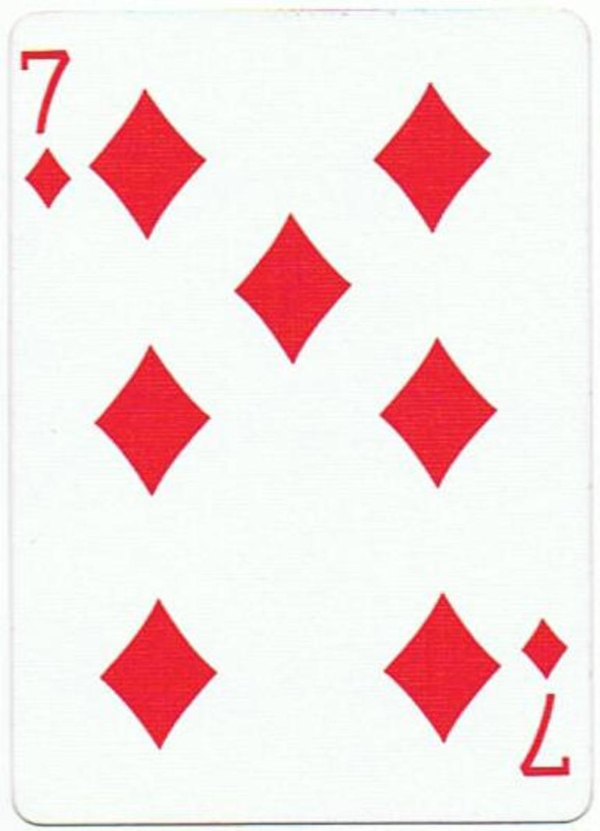 7 of diamonds clipart