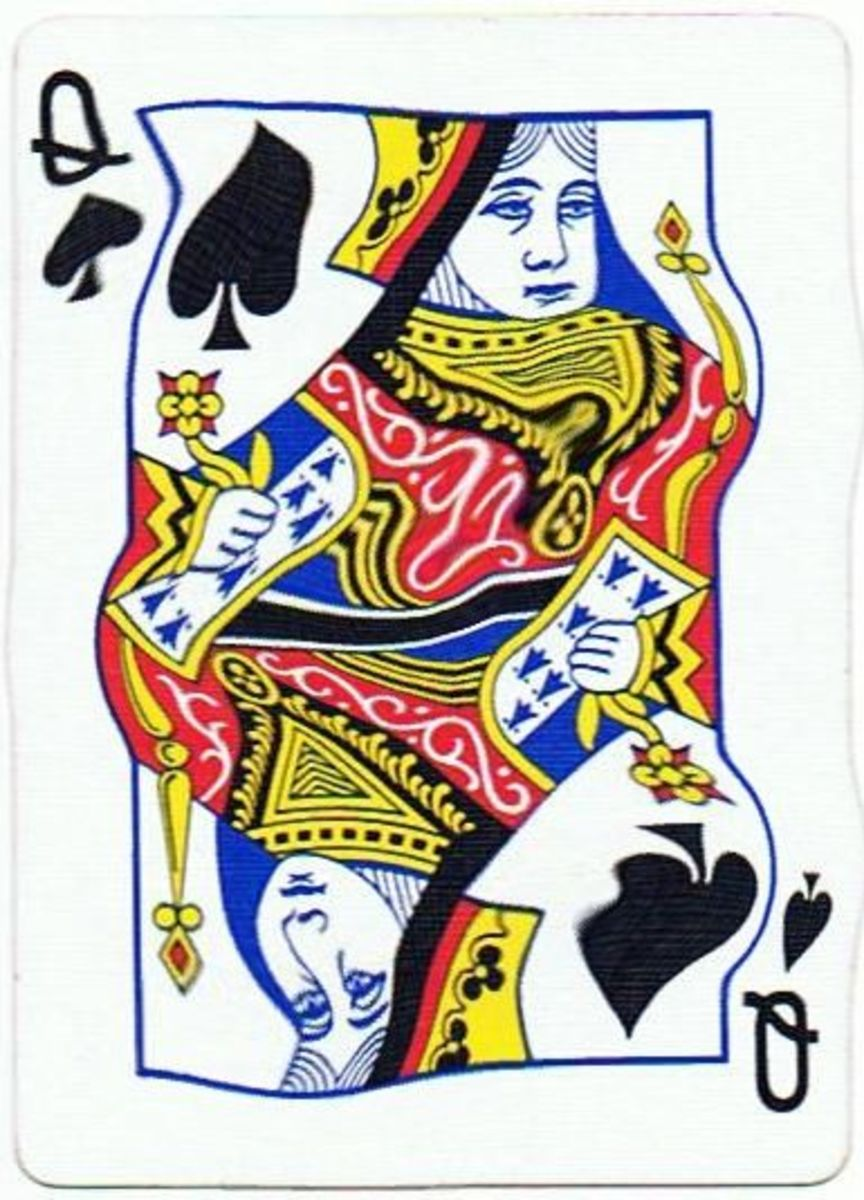 queen of spades clipart
