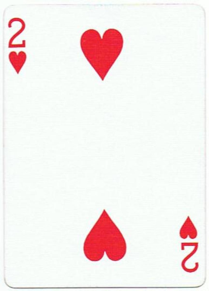 2 of hearts playing card clipart