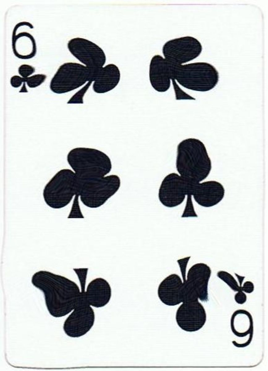6 of clubs with stretched effect