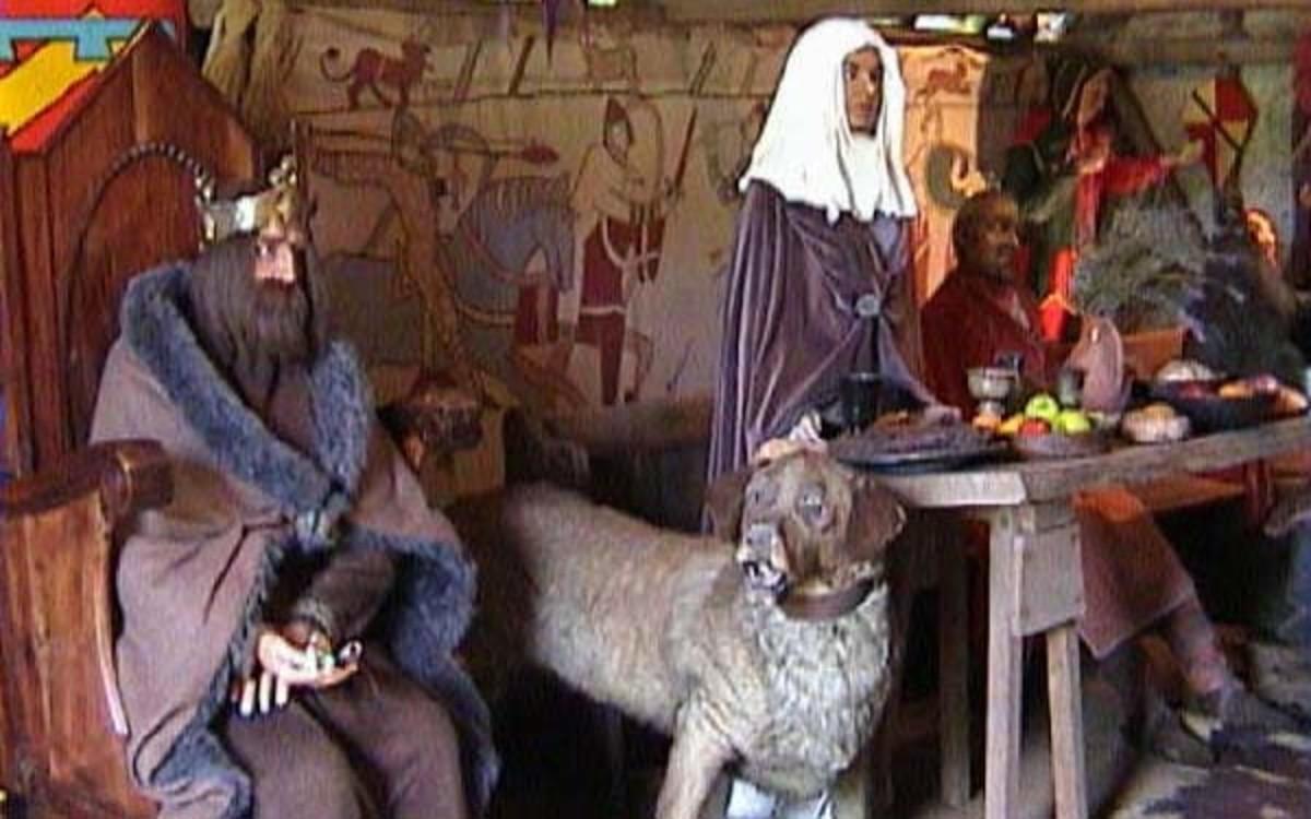 The Kings People inside Mountfitchet castle