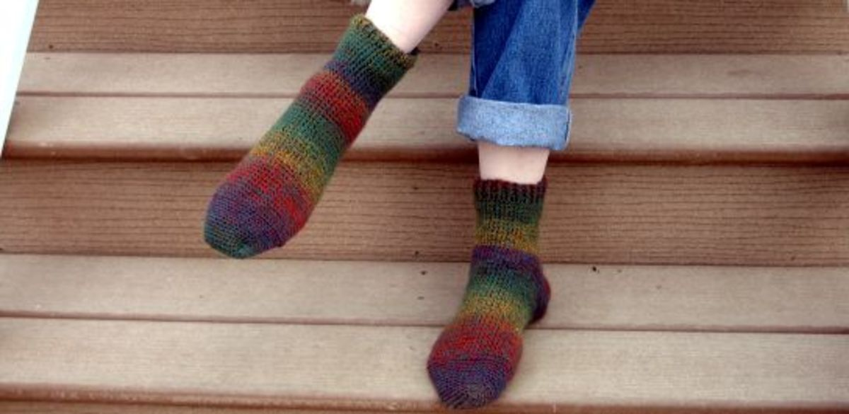 Wool, and other fabrics, can irritate legs and feet.