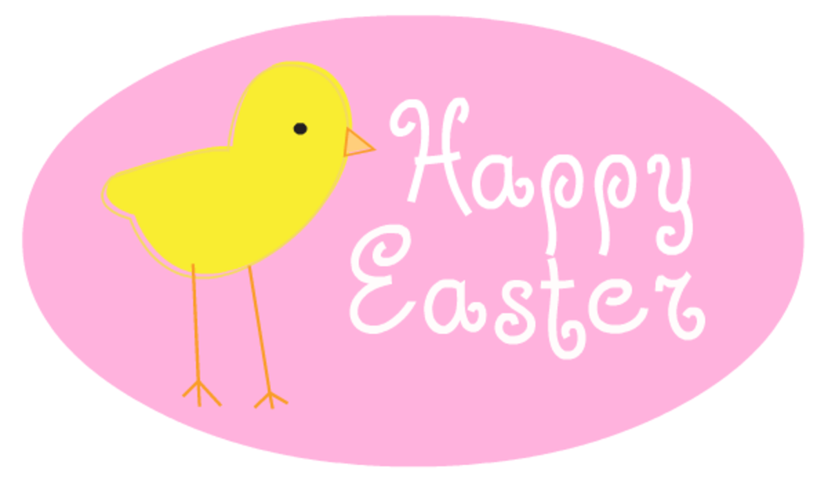 Baby chick greeting Easter clip art