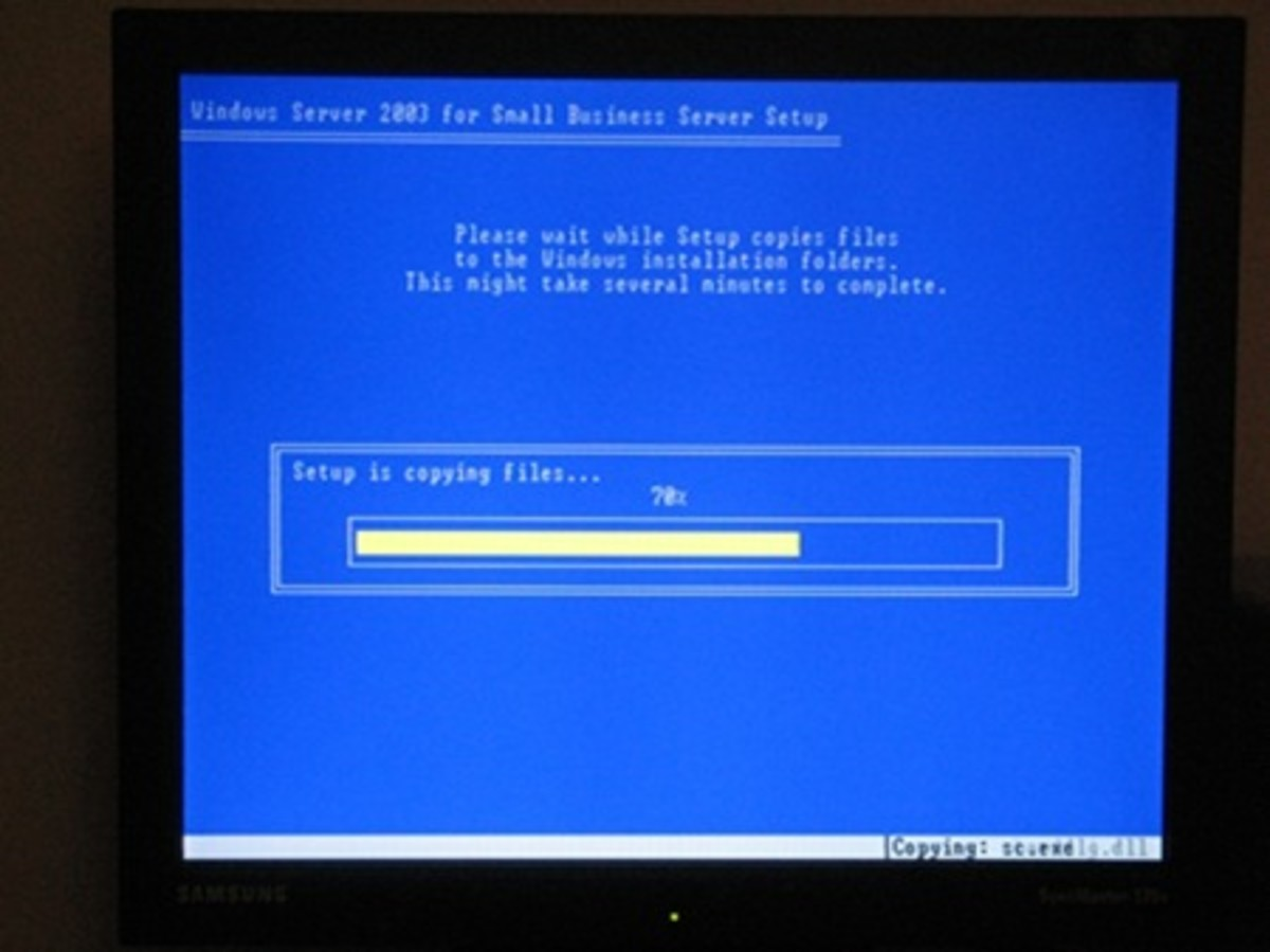 copying windows files, after this point windows will reboot and continue graphical installation