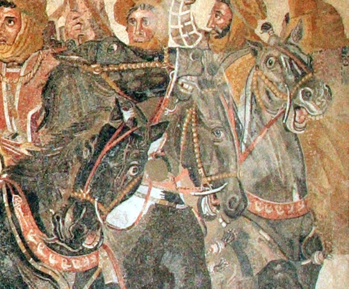 Detail from  'The Alexander Mosaic' Courtesy of Wiki Commons