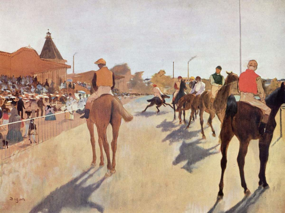 Another of Degas's stunning works, this time in oil on canvas.
