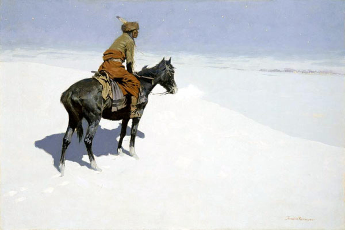 This is one of my favourite paintings by Remington. A stunning image, painted between 1900 and 1905.