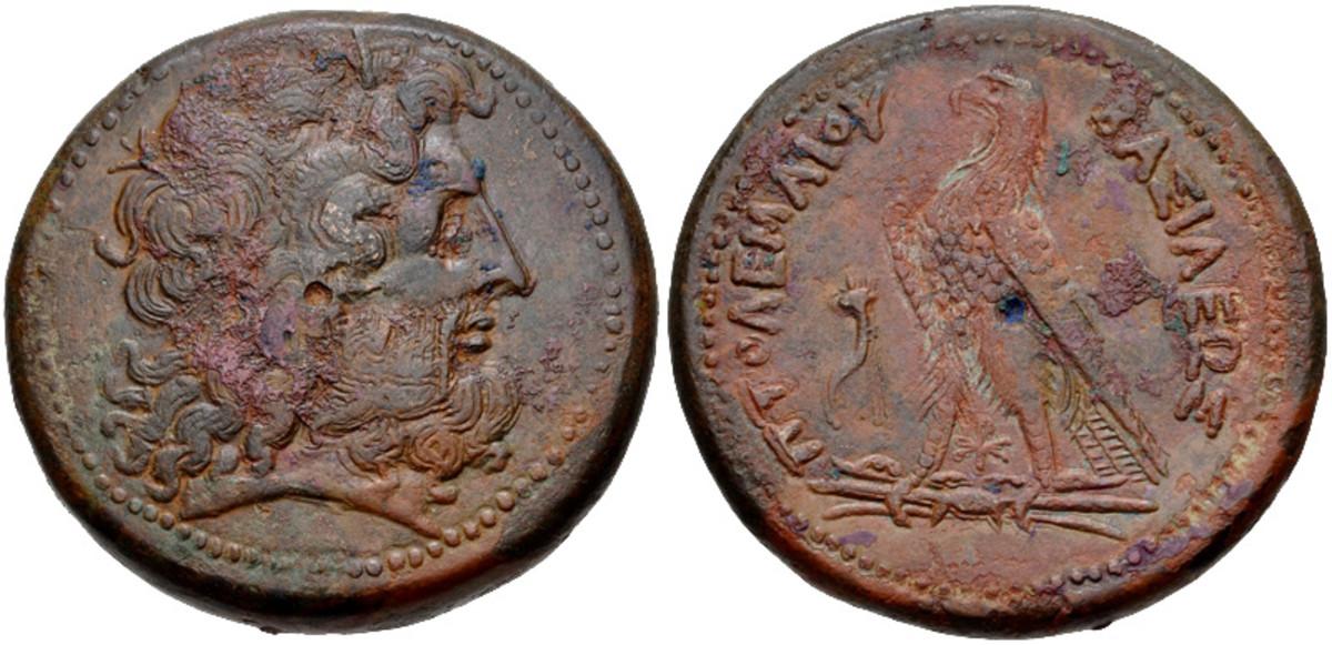 The head of Ammon-Zeus, Greek equivalent for Amen-Ra (246-222 BCE)