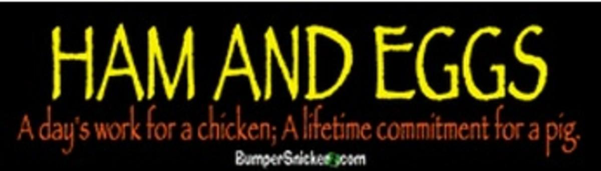 Ham and Eggs Bumper Sticker