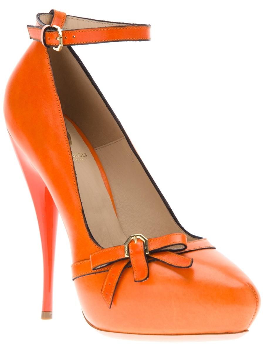 VIKTOR & ROLF Orange Bow High Heel Pump