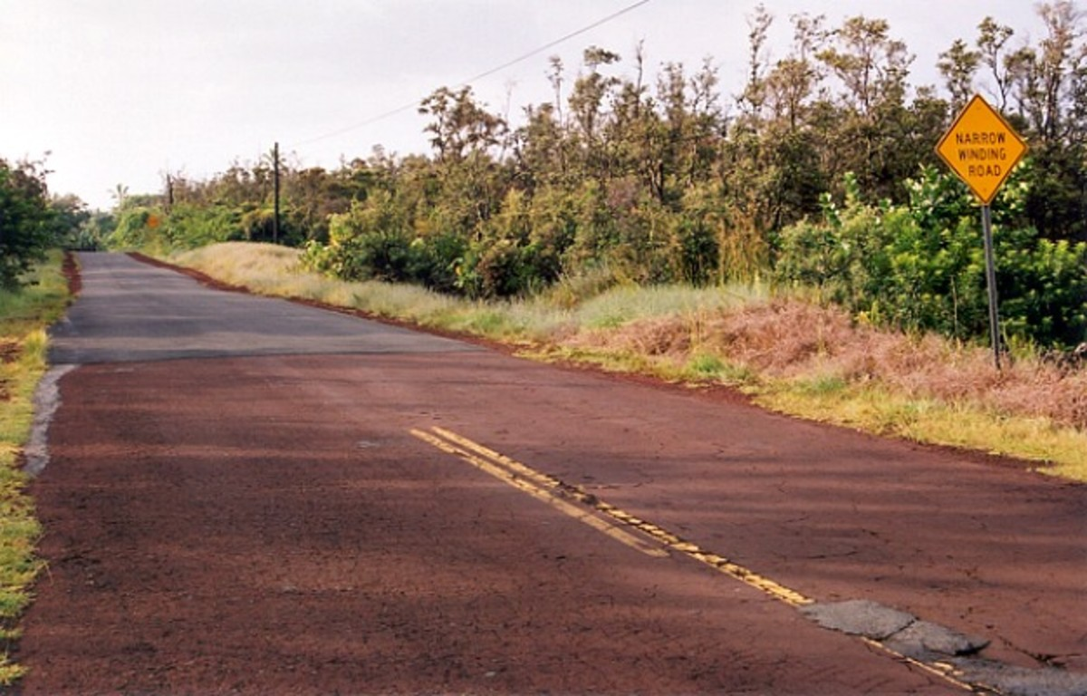 Kapoho Red Road Pavement