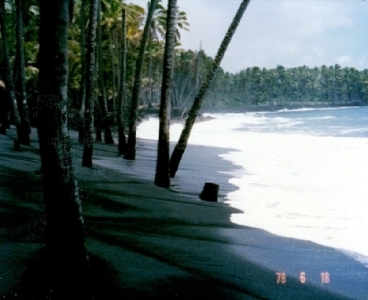 Kalapana Black Sand Beach - This Was Then